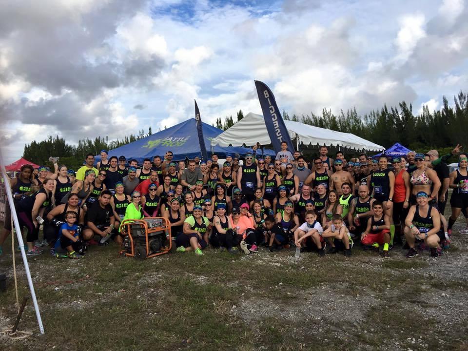 BattleFrog Miami Biggest Team FIT4LYFE - Sandy Tocci