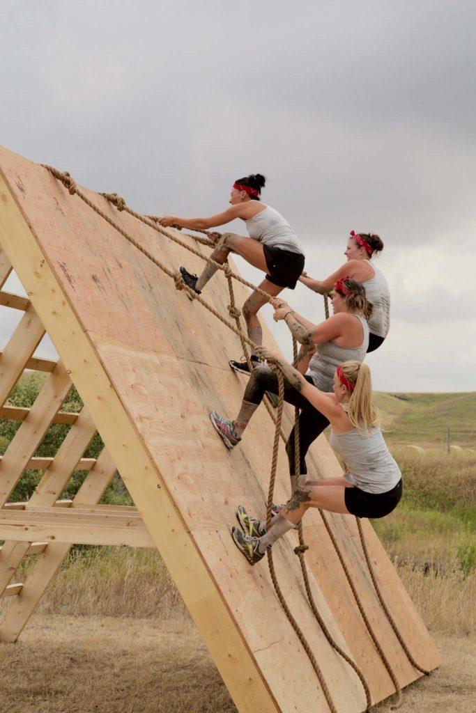 Muddy Warrior climb